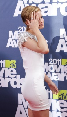 British actress Emma Watson arrives at the 2011 MTV Movie Awards in Los Angeles